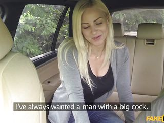 hot nathaly sucks the driver's cock